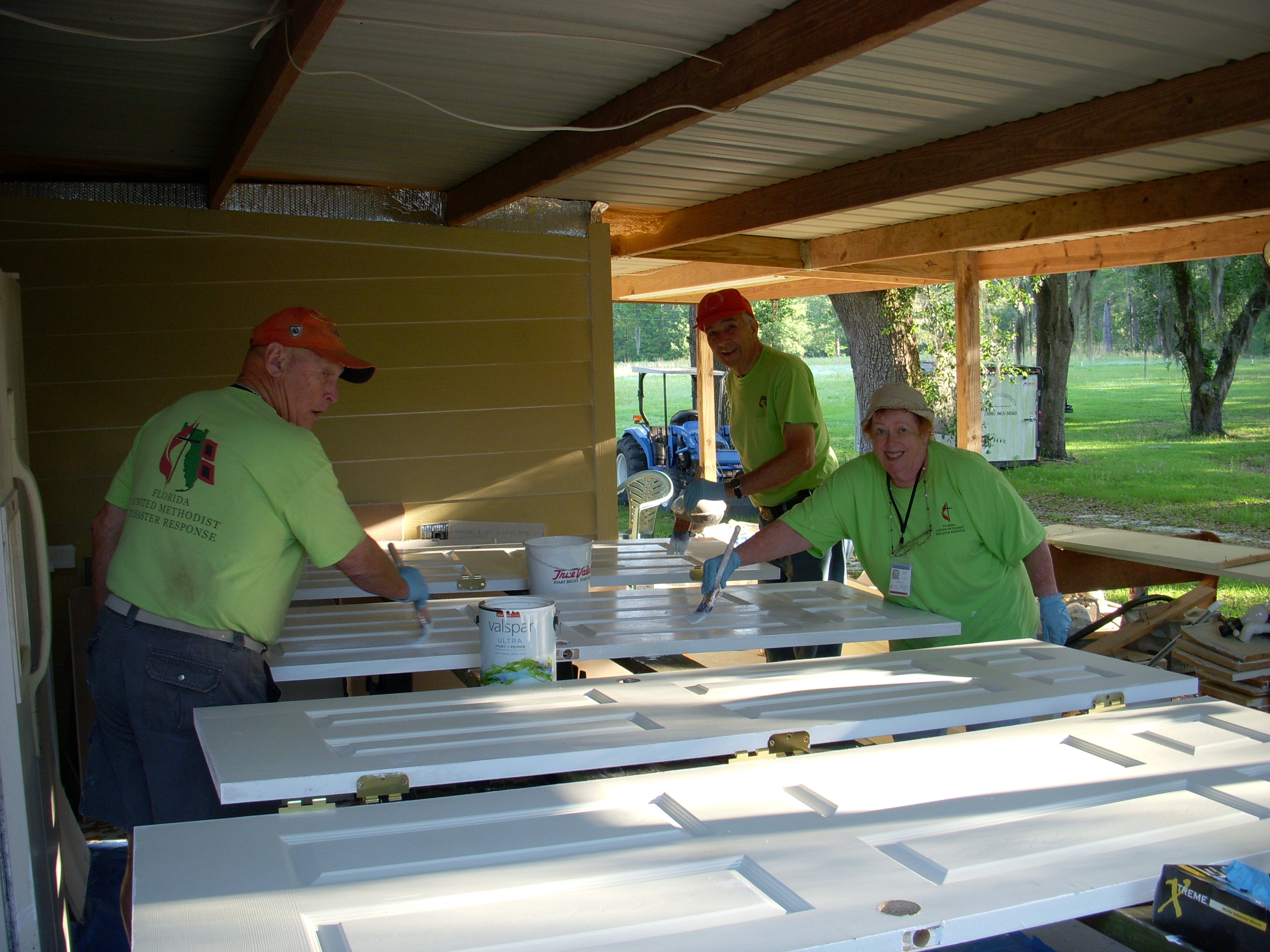 Volunteers from New Covenant UMC, The Villages, First Winter Garden and First Ocala Work in Live Oak to repair homes damaged by TS Debby in 2012.