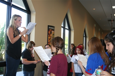 Girls sectional rehearses at Van Dyke Church
