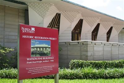Frank Lloyd Wright restoration underway