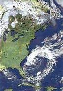 NOAA satellite photo of Tropical Storm Andrea