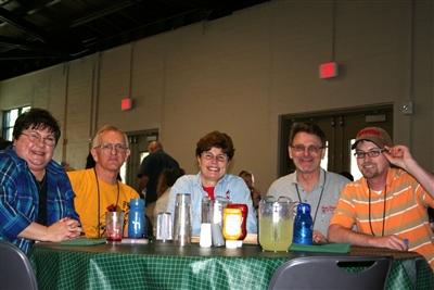 Illinois camp staffers at lunch, Warren Willis