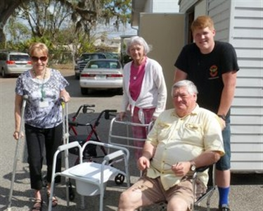 Volunteers from Morrison UMC Opportunity Shop and Medical Loan Closet