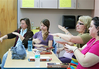 Sign language class at First UMC, Lakeland