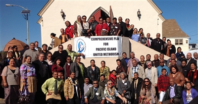 Rev. Nancy Mayeux with others at the Pacific Island Ministry Plan meeting