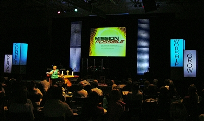 Lynette Fields, servant ministry director at St. Luke's UMC, at Mission Possible Conference
