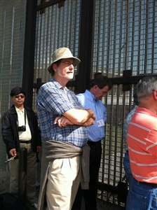 Bishop Carter at U.S. Mexican border