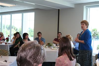 Beth Fogle-Miller addresses luncheon crowd