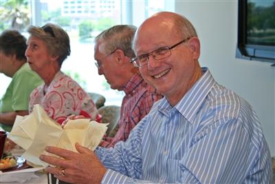 Chuck Weaver at farewell luncheon