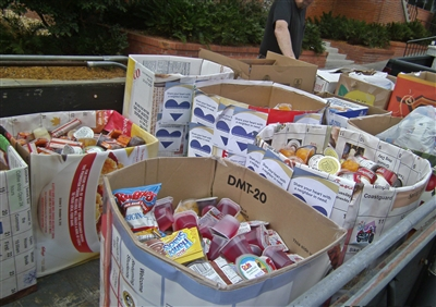 Food gathered at Stetson University food drive