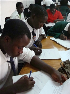 Students in the New Life Center after-school program, Zambia
