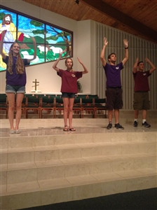 Youth praise group at Trinity UMC, Jensen Beach