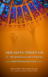 E-book cover shows hands reaching for stained glass ceiling