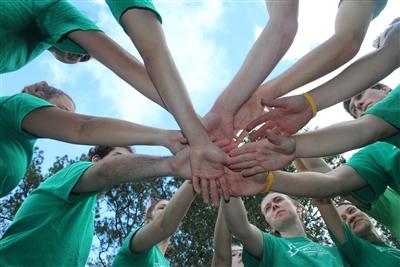 Gator Wesley students in intramural football