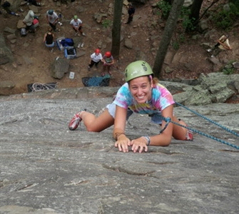 Rock-climbing at Warren Willis Camp