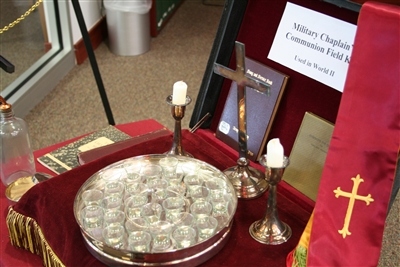 World War II chaplain's communion set at Archives Center