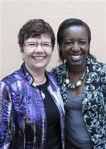 Rev. Pam Cahoon, left, with Ruth Mageria