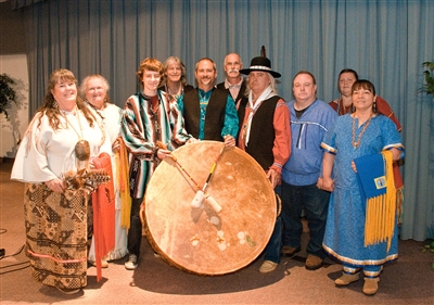 Sacred Thunder Drum Group with drum