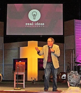 Ken Davis addresses full crowd at Real Ideas Conference