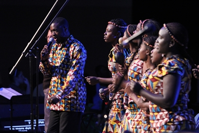 Singers perform