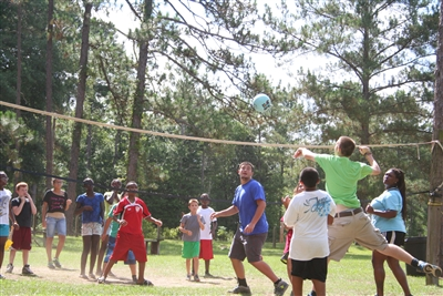 Volleyball at Centenary Camp