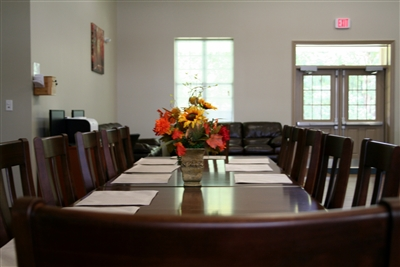 Dining table in one of the group homes at Madison Youth Ranch