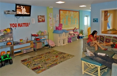 Common area of HUM family shelter