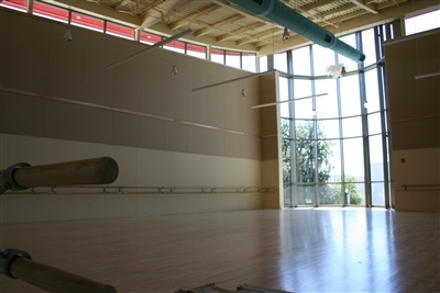 Light and airy dance studio (interior) awaits students