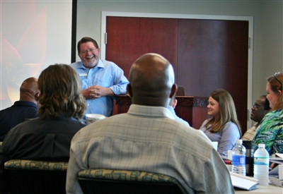 Rev. Dan Jackson shares his church planting experiences with the academy group