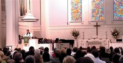 Worship service at Trinity UMC, Tallahassee