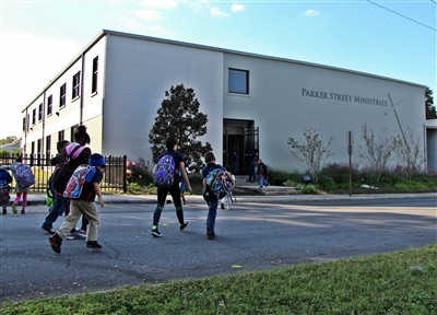 Students head to Parker Street Ministries for after-school tutoring