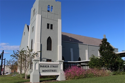 Exterior view of Parker Street Ministries, formerly Wesley Memorial UMC