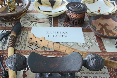 Sample of crafts from Zambia, Africa