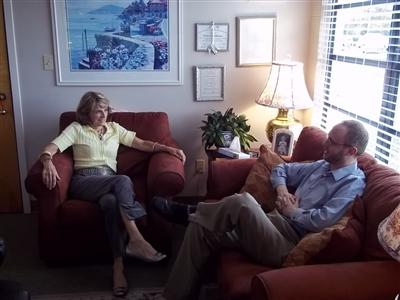Dr. Joanne MacPherson with St. Luke's intern Joel Christie