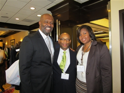 Vance Ross, Harold Lewis and Candace Lewis at Atlanta convocation