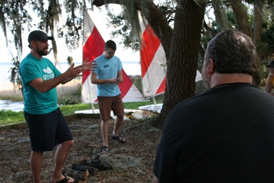 Joel Pancoast and Will Cooper lead sailing workshop