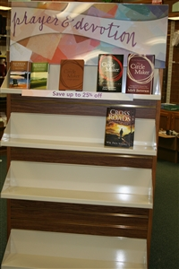Emptying shelves at Cokesbury