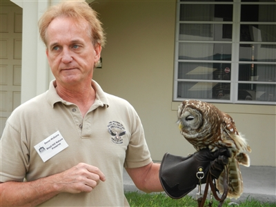 Boyd Hill representative with owl