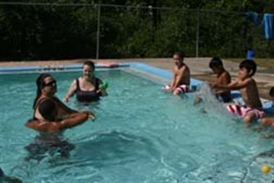 Swimming lesson at Centenary Camp pool