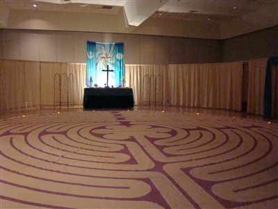 2012 AC Prayer Garden labyrinth