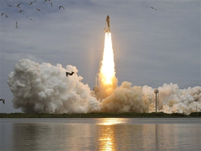 Atlantis final flight lifts off