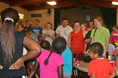 CROS Camp participants entertain guests at First UMC, Pahokee
