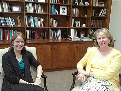 Rev. Emily Knight meets with North Central DS Sue Haupert-Johnson