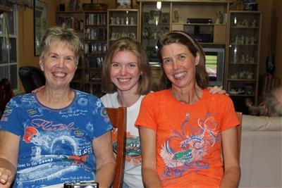From left, Pat Nelms, Shannon Moore, Sandy Moore