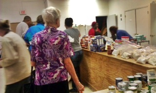 Food line at Palm Bay UMC
