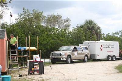 2012 photo of Florida disaster relief volunteers at Warrior's Place