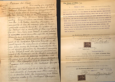 Hand-written charter for Freedman's Aid Society