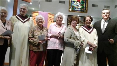Retiring 'Golden Girls' with Rev. Fred Ball