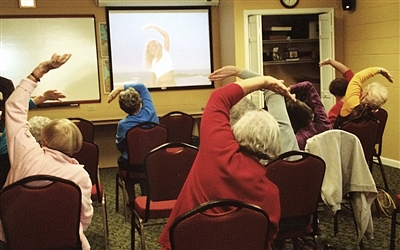Exercise class for Saints Alive at Killearn UMC, Tallahassee