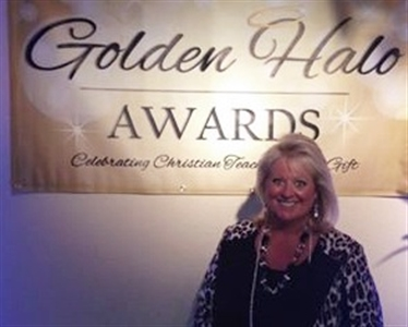 Deneen Crandall at Golden Halo Award Banquet