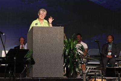 Rev. Pam Carter announces 1.7 million meals packaged